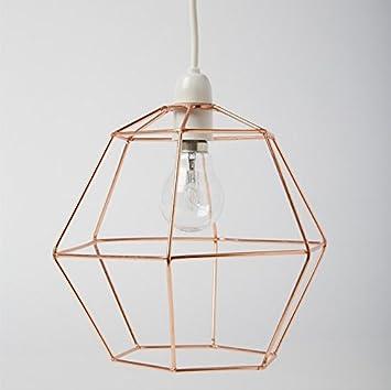 Industrielle Sechseck Kupfer Draht Lampenschirm Lampe Deckenleuchte ...
