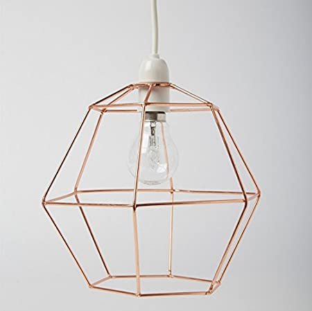 Strange Industrial Hexagon Copper Wire Ceiling Pendant Light Lamp Shade Wiring 101 Archstreekradiomeanderfmnl