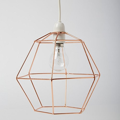 Industrial modern copper wire ceiling pendant light lamp shade industrial hexagon copper wire ceiling pendant light lamp shade lampshade lights greentooth Gallery