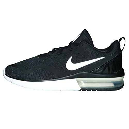 Nike Women's Air Max Fury Black/White-Black Low Top Cross Trainer Shoe - 9.5M
