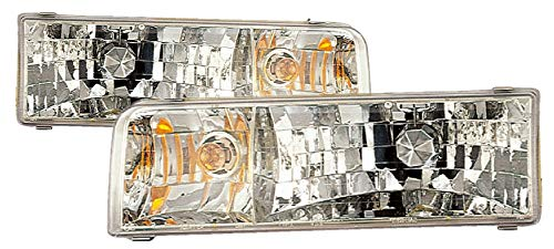 (For 1995 1996 1997 Lincoln Town Car Headlight Headlamp Assembly Driver Left and Passenger Right Side Pair Set Replacement FO2502141 FO2503141)