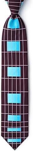 Guitar Fretboard Wine Microfiber Tie