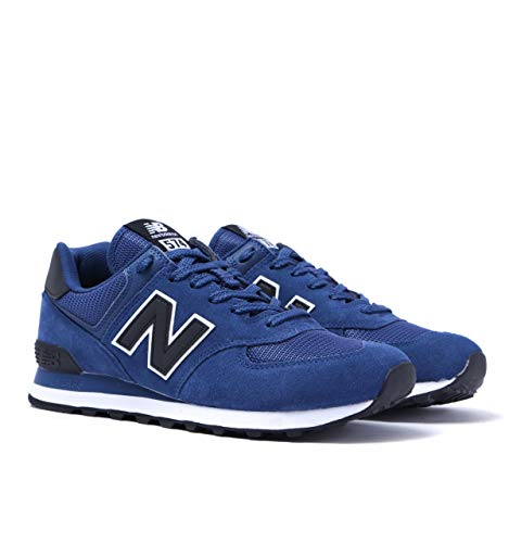 New Balance 574 Blue Suede Trainers - UK 7