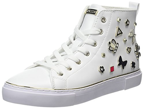 Sneaker Guess a Alto Donna Garbille Collo Bianco 5x8wxgqA
