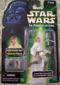 Star Wars: Power of the Force CommTech Luke Skywalker Action Figure by (Star Wars Figure Commtech Chip)