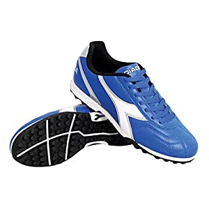 Diadora Men's Capitano TF Turf Soccer Shoes (9 D(M) US, Royal / White / Silver)