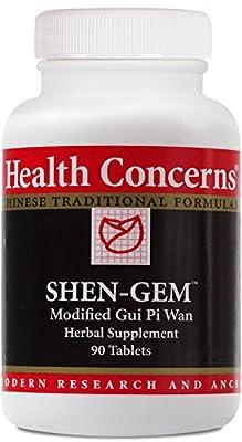 Health Concerns - Shen-Gem - Modified Gui Pi Wan Herbal Supplement - 90 Tablets