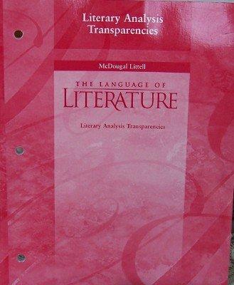 The Language Of Literature Literary Analysis Transparencies Grade 7 ebook