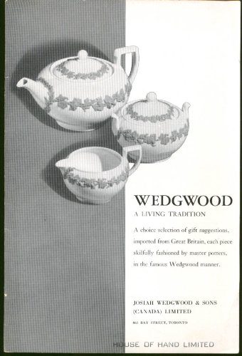 Wedgwood A Living Tradition Gift Catalog folder Toronto 1950s