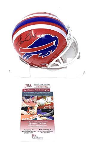 Thurman Thomas Buffalo Bills Signed Autograph Mini Helmet JSA Witnessed Certified from Mister Mancave