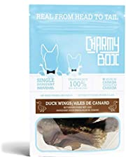 CHARMY Chews for Dogs, Duck Wing, Air-Dried (Gently and Slowly), Single Ingredient, Made in Canada (Pack of 1)[4.2oz/120g]