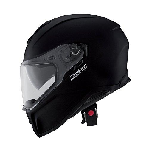 Matt Black Motorbike Helmet - 9