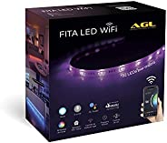 Fita LED Inteligente AGL, Wi-Fi, 2 metros, Compatível com Alexa