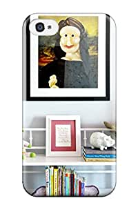 (JrDZUqh26910Imwpx)durable Protection Case Cover For Iphone 4/4s(fun Artwork And Bookcase In Child8217s Bedroom)