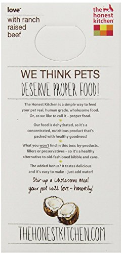4 LB, Beef Recipe Grain Free Food for Dogs by Honest Kitchen