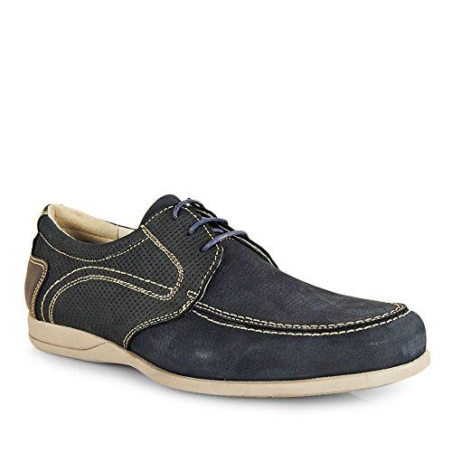 Wisconsin Zapato Cordon Picado Nobuk Marino