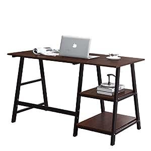 Amazoncom Soges Computer Desk Trestle Desk Writing Home Office