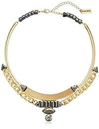 "Steve Madden Chain Cesent Collar Necklace, 17"" + 3"" Extender"