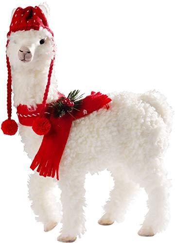 (Apropos Festive Llama in Knit Hat and Scarf Plush Figurine 20