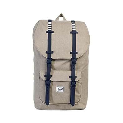 Herschel Little America, Light Khaki Crosshatch/Peacoat Rubber/White Inset Backpack