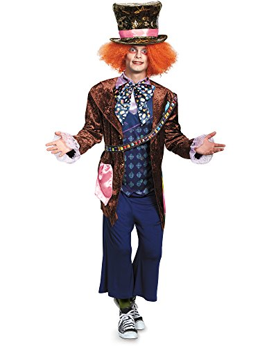 Disney Disguise Men's Alice Mad Hatter Deluxe Costume, Multi, -