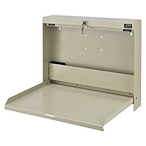 "Amazon.com: Wall Mounted Locking Writing Desk, 20 ""W x 3-3 ..."