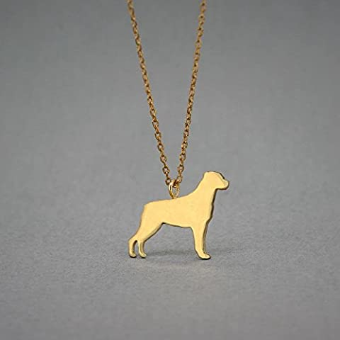 14K GOLD Personalised ROTTWEILER Necklace - Rottweiler Name Jewelry - Gold Necklace- Dog Jewelry - Dog breed Necklace - Dog - Rottweiler Jewelry