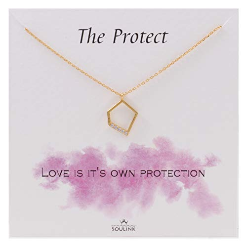 Soulink Geometric Pentagon Necklace (Yellow Gold) from Soulink