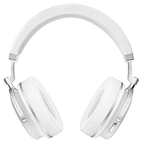 Sconary Bluetooth 4.2 Wireless Headset Head Mounted Handfree Over Foldable Durable Headphones Noise Cancelling with Microphone (White)