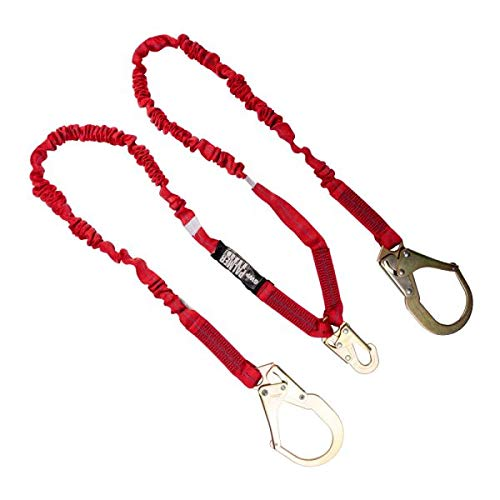 Safety Harnesses & Lanyards - Personal Fall Protection (LANYARD 6 FT. INTERNAL SHOCK, REBAR HOOKS, DOUBLE LEG)
