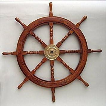 36″ Nautical Wood Ship Wheels
