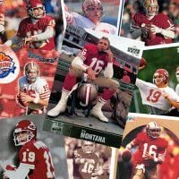 10 Different Joe Montana Football Cards - Mint Condition In Display Album !! 412FM94DEZL