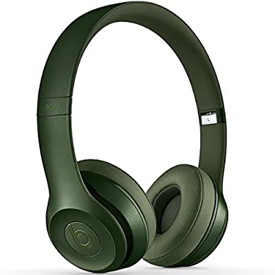 Beats by Dr. Dre Solo2 On-Ear Headphones, 3.5 mm Jack, In-Line Volume Control, Royal Collection, Hunter Green