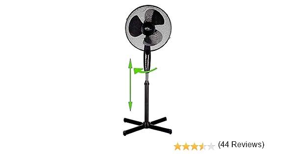 Ecoix Ventilador de pie 40 W, diámetro de 40 cm, Ventilador de ...