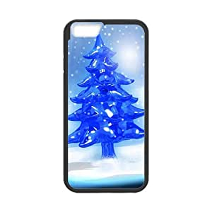 Christmas blue crystal Christmas tree Phone Case for Iphone 6