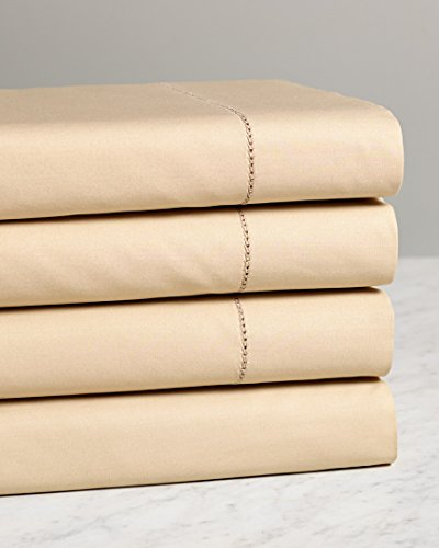 Notte by Bellino Solid Hemstitch Sheet Set, King Sheet Set ()