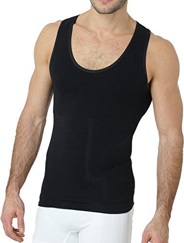 UnsichtBra Shapewear Unterhemd Herren | Body Shaper Funktionsshirt Herren | Bauchweg Kompressionsshirt Herren Weiss o. schwarz