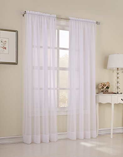 No. 918 Emily Sheer Voile Single Curtain Panel, 59 x 84 Inch
