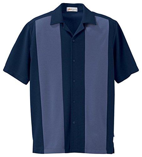 Il Migliore 87017 Men's Knit Ottoman Color-Block Camp Shirt hot sale