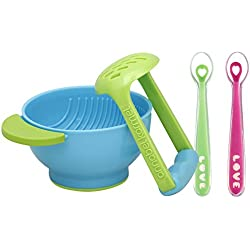 NUK Mash and Serve Bowl with Silicone Feeding Spoon Set