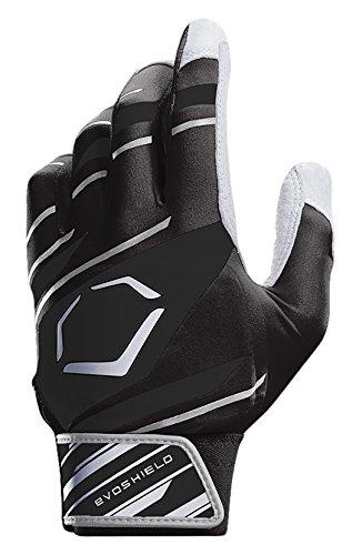 EvoShield Protective Speed Stripe Batting Gloves, Black/Grey, Medium Black Protective Baseball Glove