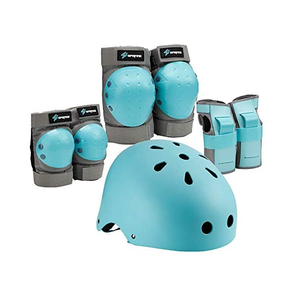 Spofine Kids Bike Helmet, Toddler Helmet Adjustable for Kids Youth Adult, Knee Pads...
