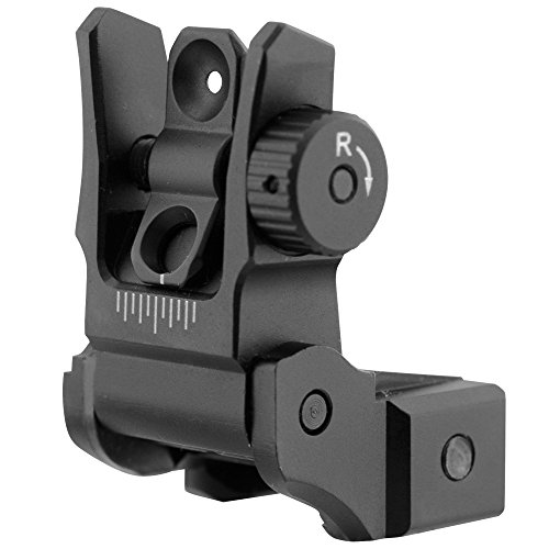 UTG. Low Profile Flip-up Rear Sight with Dual Aiming Aperture