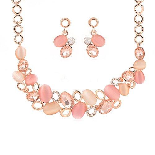 [EverTrust(TM)Fashionable Pink Summer Luxury Jewelry Set Adrican Costume Accessory Delicate Zinc Alloy Jewelry Set For] (Costume Design Carol)