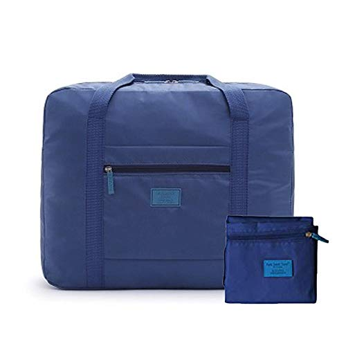 Foldable Travel Duffel Bag 26L Lightweight,Water Repellent & Tear Resistant Travel Luggage Bag by INVODA (Blue)