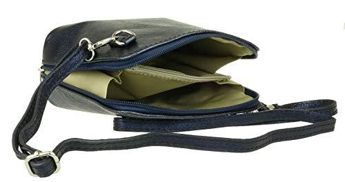 Bolso Marino Para Handbags De Girly Piel Cruzados Mujer Azul z85qXFxvw