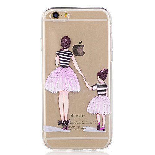 Price comparison product image Apple iPhone 6s Clear Case/6 Case Cover TPU Rubber Gel Shock-Absorption Bumper Protective Cover (2, iPhone 6/6s)
