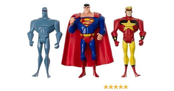 Justice League Unlimited Superman Starman Amazo 3 Pack: Amazon.es ...