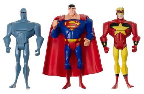 Justice League Unlimited Superman Starman Amazo 3 - Unlimited Mattel Justice League