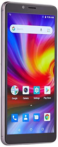 NUU Mobile G1 5.7 16GB/1GB Ram | Unlocked Smartphone - Android 8 Oreo (Go Edition) - Dual SIM GSM 4G LTE 8MP Camera | Fingerprint ID | 5000 mAh Long Lasting Battery (US Warranty)